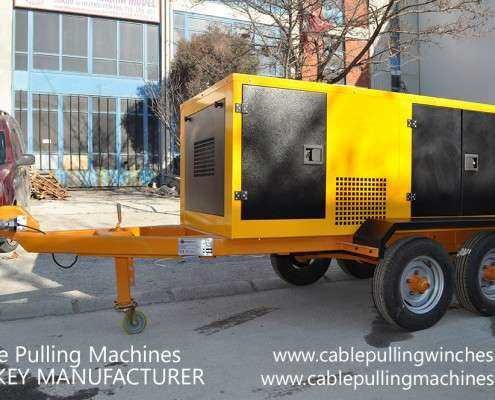 Cable Pulling Winches  كابل آلات سحب وكابل الطبل المقطورات الصانع Cable Pulling Machines 110 495x400