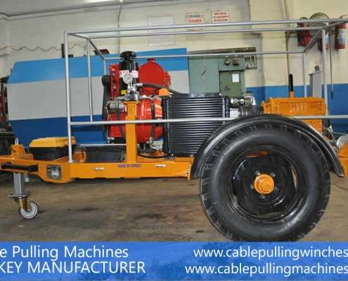 Cable Pulling Winches  كابل آلات سحب وكابل الطبل المقطورات الصانع Cable Pulling Machines 112 495x400