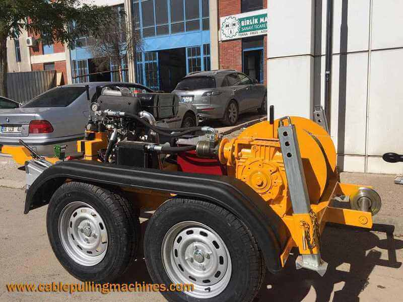 Hydraulic Cable Pulling Winches hydraulic cable pulling winches The work of Hydraulic Cable Pulling Winches Cable Pulling Machines 1110