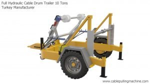 Full Hydraulic Cable Drum Trailer 10 Tons Manucafturer Turkey 2 full hydraulic cable drum trailers Full Hydraulic Cable Drum Trailers AUTO10 Full Hydraulic Cable Drum Trailer 10 Tons Manucafturer Turkey 2 300x169