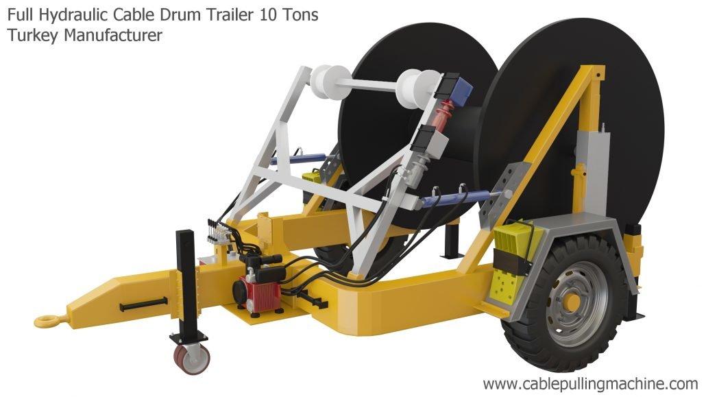 Full Hydraulic Cable Drum Trailers
