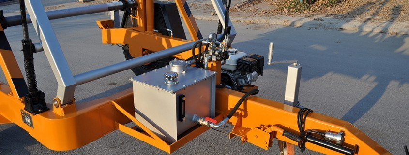 Full Hydraulic Cable Drum Trailers Manufacturer مقطورات بكرة الكابل الهيدروليكية الكاملة مقطورة بكرة الكابل الهيدروليكية الكاملة 7 طن Full Hydraulic Cable Drum Trailers Manufacturer 03 845x321