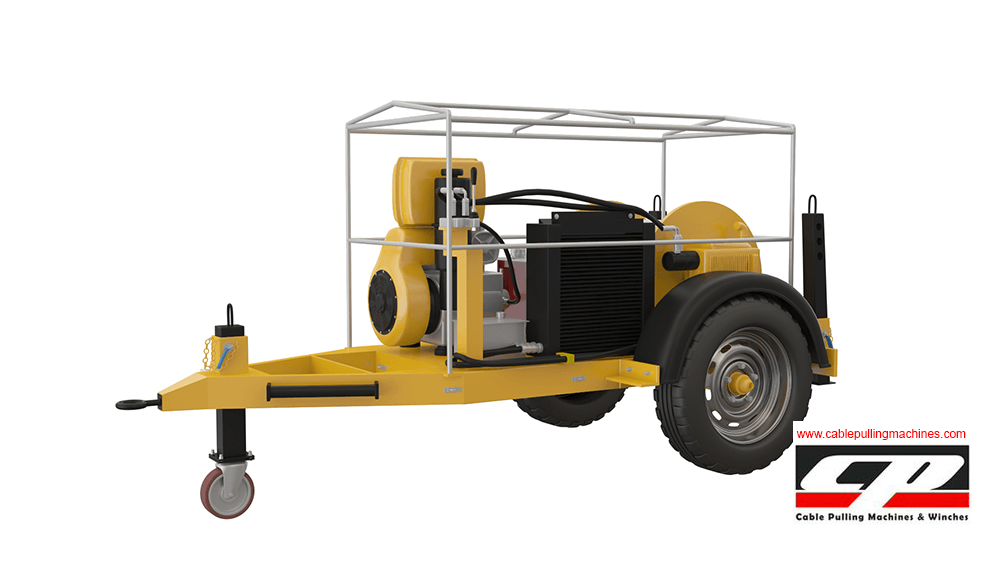 Hydraulic Cable Pulling Machine : Hydraulic cable pulling winches ton