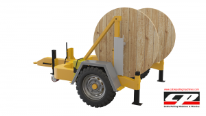 hydraulic cable drum trailers Hydraulic Cable Drum Trailers 4TON Hydraulic Drum Trailer Manufacturer 4 Tons 2 300x169