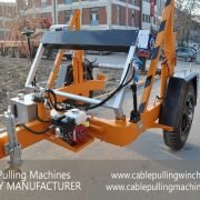 Cable Drum Trailer hydraulic cable drum trailers The best Hydraulic cable drum trailers from cable pulling machines Cable Pulling Machines 101 1 180x180