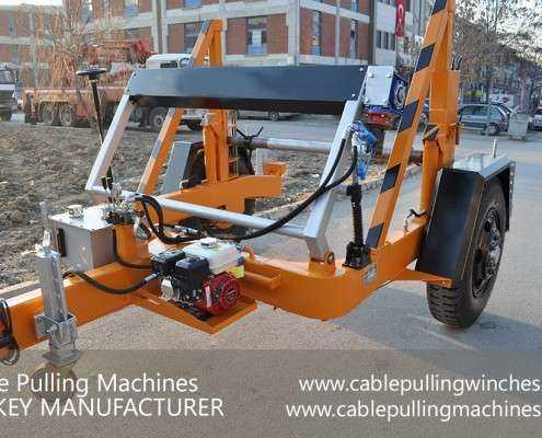 Cable Drum Trailer  كابل آلات سحب وكابل الطبل المقطورات الصانع Cable Pulling Machines 101 495x400