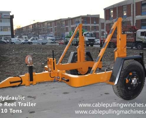 Cable Drum Trailer  كابل آلات سحب وكابل الطبل المقطورات الصانع Cable Pulling Machines 103 495x400