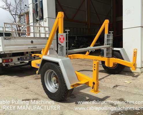 Cable Drum Trailer  كابل آلات سحب وكابل الطبل المقطورات الصانع Cable Pulling Machines 108 495x400