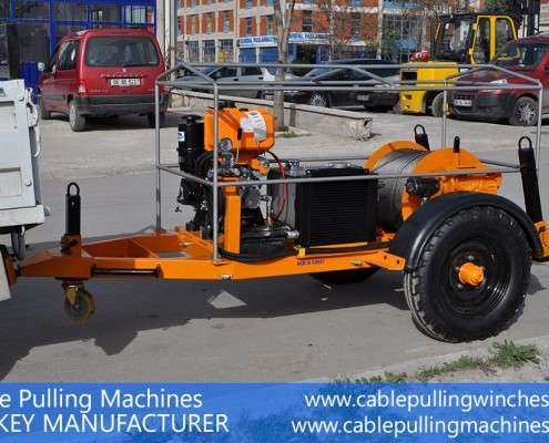 Cable Pulling Winches  كابل آلات سحب وكابل الطبل المقطورات الصانع Cable Pulling Machines 111 495x400
