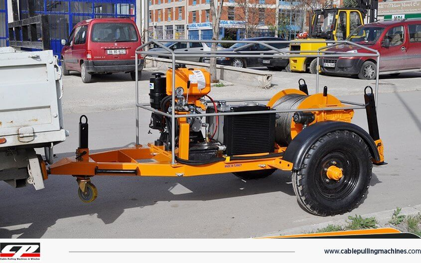 Cable Pulling Machines cable pulling winches HYDRAULIC CABLE PULLING WINCHES 5TON Cable Pulling Machines 111