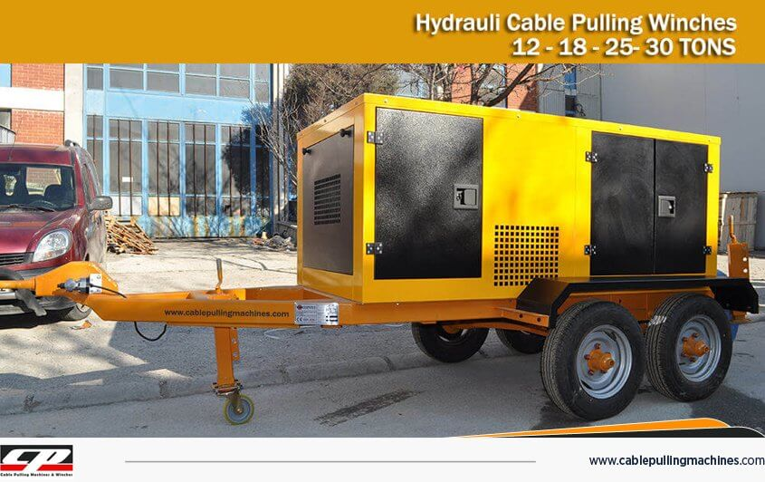Cable Pulling Machines 30TONS cable pulling machines HYDRAULIC CABLE PULLING MACHINE 12-15 TONS Cable Pulling Machines 30TONS 1