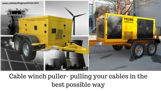 Cable Pulling Machines cable winch Cable winch puller- pulling your cables in the best possible way Cable Pulling Machines