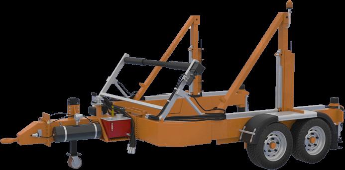 Full Hydraulic Cable Drum Trailers AUTO30  كابل آلات سحب وكابل الطبل المقطورات الصانع 30tone two